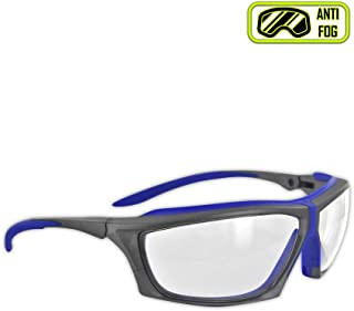 Magid Glove & Safety Y770RBAFC Gemstone Zircon Plus Safety Glasses with TPR Frame Cushion, Royal Blue/Gray, Meets ANSI Standards