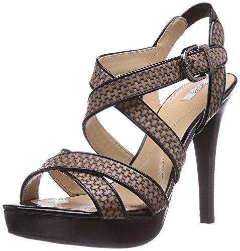 Geox D IVANA SAND C, Damen High Heels Sneakers, Beige (DOVE GREY/BLACKC1381), 37 EU