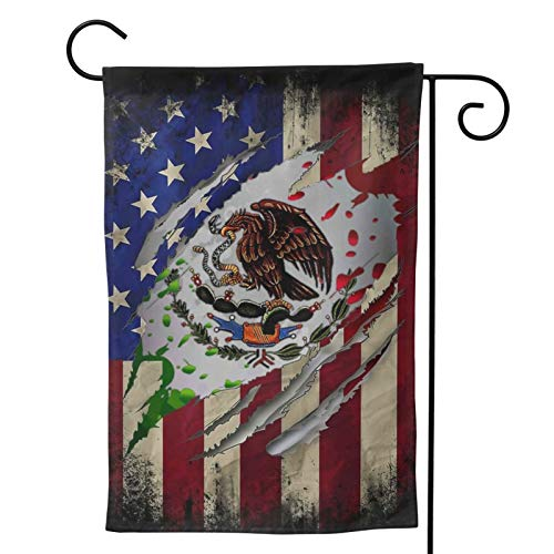 Mexican American Flag Mexico Independence Day De Independecia Party Themed Flag Welcome Outdoor Outside Decorations Ornament Picks Garden Yard Decor Double Sided 12.5x 18 Flag