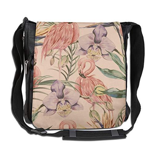 Doinh Exotische Botanische Behang, Vintage Boho Stijl Aangepaste Canvas Messenger Tas, Inclined Schoudertas, Geschikt voor zowel mannen als vrouwen