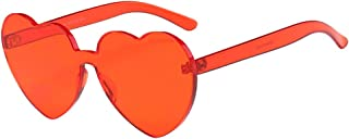 Glasses, Women Fashion Heart-shaped Shades Sunglasses Integrated UV Candy Colored