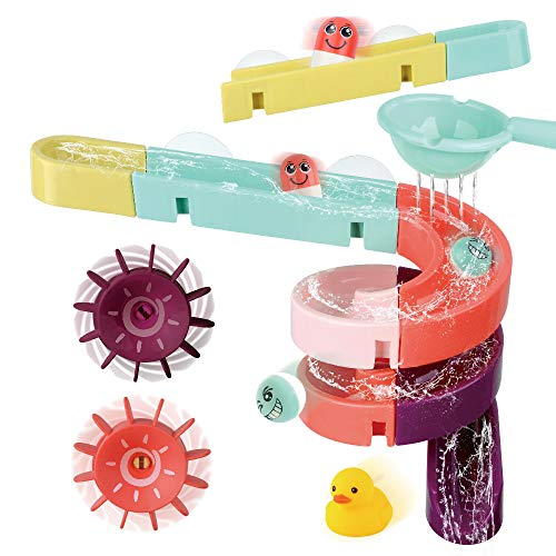 Kids Bath Toys Assemble Set - 24PCS DIY Wall...