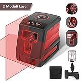 DETLEV PRO Livella Laser 15m Croce Autolivellante 3 Modalità 360 Gradi Rotante Supporto Regolabile Modulo Laser Doppio Orizzontale Verticale IP54 T01