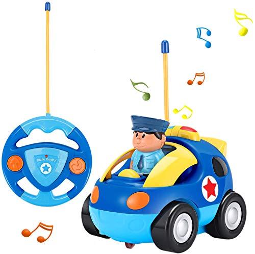Macchina Telecomandata per Bambini,Auto Telecomandata con Musica e Luci,Auto polizia Giocattolo Regalo per Bambini 2-6 Anni