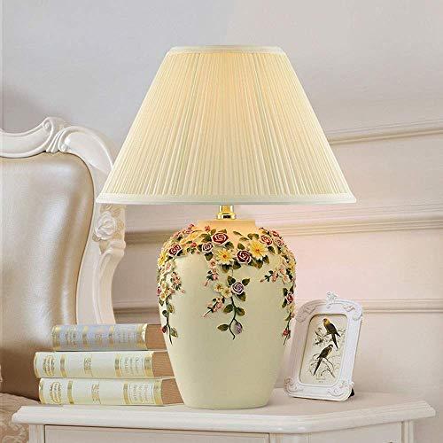 WRISCG Lámpara Escritorio Lámpara Creativa Minimalista Europea lámpara de Escritorio LED Mesa decoración de la Sala de Estar Pintura decoración luz de Emergencia Mesa de Boda 1 * (18 * 46 cm)