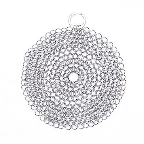 Sunmery Limpiador de anillos de acero inoxidable, duradero y seguro, accesorio de cocina multiusos para limpiar los cristales de la sartén.