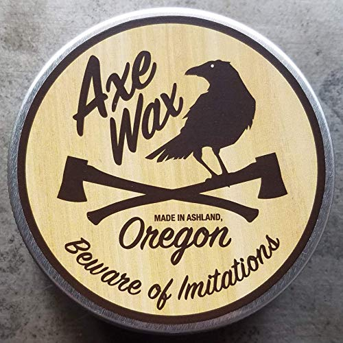 Axe Wax Premium Wood Finish - 2oz (60ml) of Quick-Drying Wax for Protecting and Restoring Axes, Knives, Micarta, Cutting Boards, Leather, Antique Furniture, and More