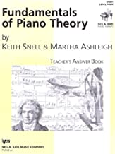 Fundamentals of Piano Theory Teachers' Answer Key Level Four