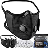 BASE CAMP M Cross Dust Face Mask 3 Pack with Extra 6 Activated...