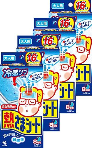 【まとめ買い】小林製薬 熱さまシート大人用 冷却シート 肌にやさしい弱酸性 16枚×4個