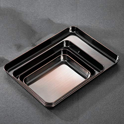 Baking Sheet Set of 4, Heavy Duty Stainless Steel Baking Pans, Cookie Sheet Baking Tray Pan for Kitchen, Mirror Finish & Rust Free,D