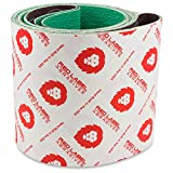 Red Label Abrasives 6 X 48 Inch 60 Grit Sanding Belt - Industrial Grade Ceramic - 2 Pack - For Knife Grinding and Metalworking