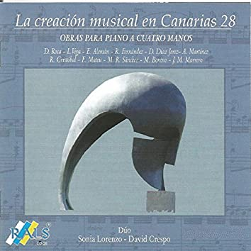 La Creación Musical en Canarias 28 - Obras para Piano a Cuatro Manos
