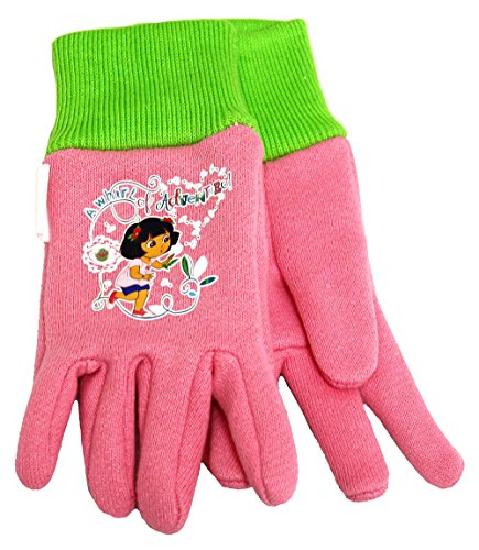 Midwest Glove DE102T Dora The Explorer All Cotton Kids Jersey Glove, Soft Pale Pink