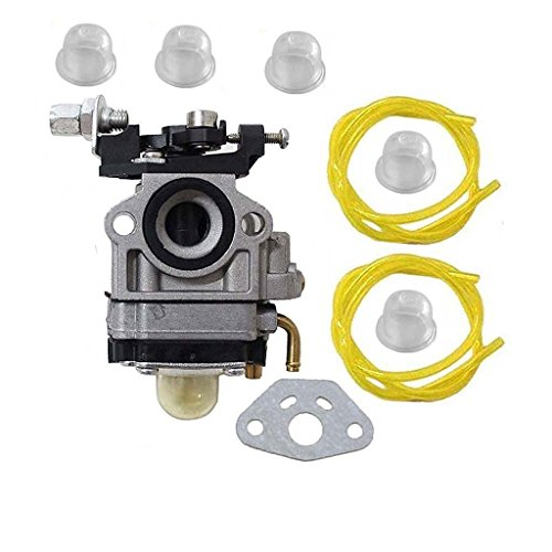 HURI Carburetor with Fuel Line for Jiffy 2 Cycle Engines Jiffy Ice Auger STX Pro II SD60i 4082 Carb