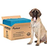 PETSWORLD Mastiff's Massive Training Giant Pads, 28x44 inch, 100 Ct, XXXL Gigantic, Tear Resistant, Super Absorbent Polymer, Extremely Strong Leak-Proof