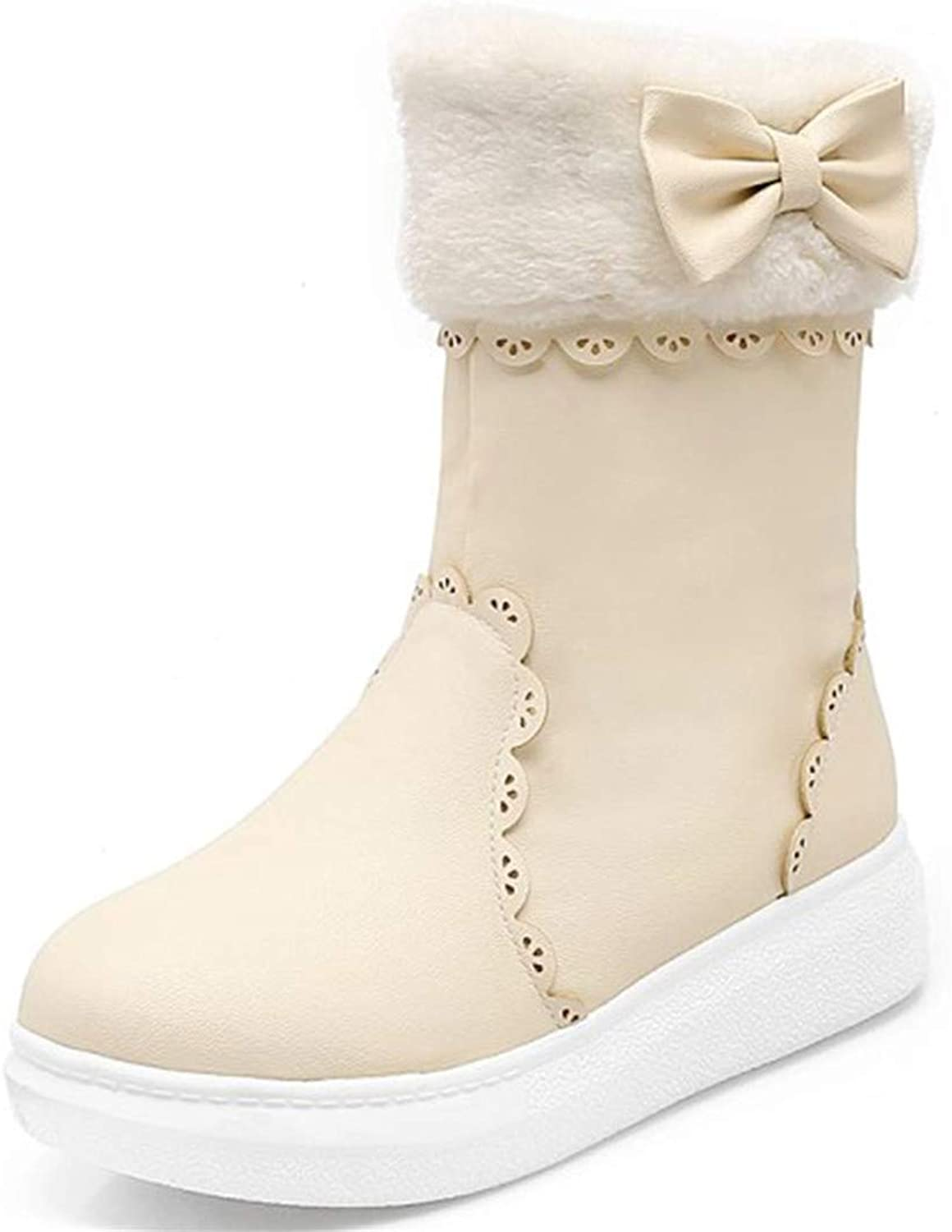 R-Anketsy Warm Plush Winter Boots Woman shoes Platform Boots Female shoes Snow Boots