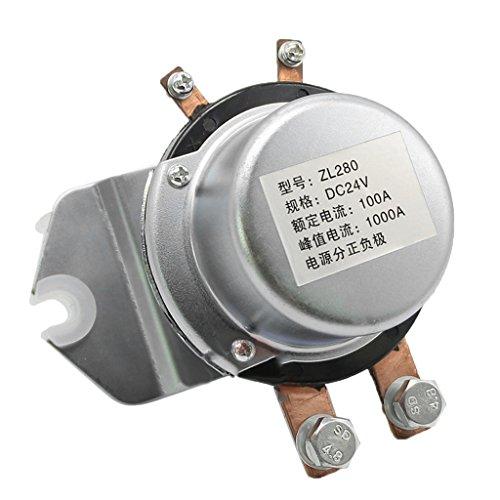 H HILABEE Anlasserrelais Magnetschalter Batterietrennschalter 24V 100A