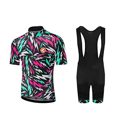 UGLY FROG Maillots de Ciclismo Hombres Camiseta y Pantalones Cortos de Ciclismo Conjunto de Ropa para Ciclismo al Aire Libre