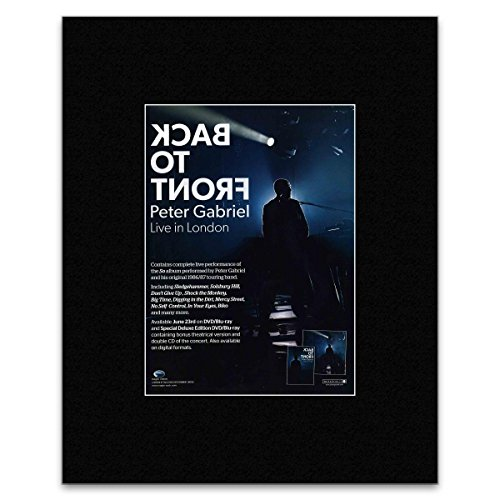 Stick It On Your Wall Poster Peter Gabriel - Back to Front Tour 2014, 28 x 21 cm
