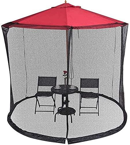Terrassenschirmnetze, Moskitonetze, Pavillonüberdachungs-Sonnenschirme mit quadratischer Lücke oder runde Regenschirme, die fast für Markttischschirme im Freien verwendet werden (Größe: 300 * 230 cm)
