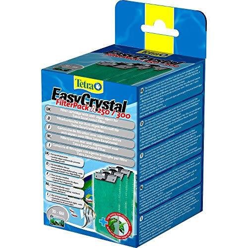 Tetra EasyCrystal Filter Pack A250/300, Filtermaterial mit AlgoStop Depot Anti-Algenwirkstoff, geeignet für Aquarien von 30 bis 60 Liter, 3 Stück