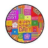 Felpudos Antideslizantes para Sala de Estar, hogar, Dormitorio, Alfombra Decorativa, Colorida, Cuadrada, Feliz día de la Madre, alfombras para el área de la Alfombra