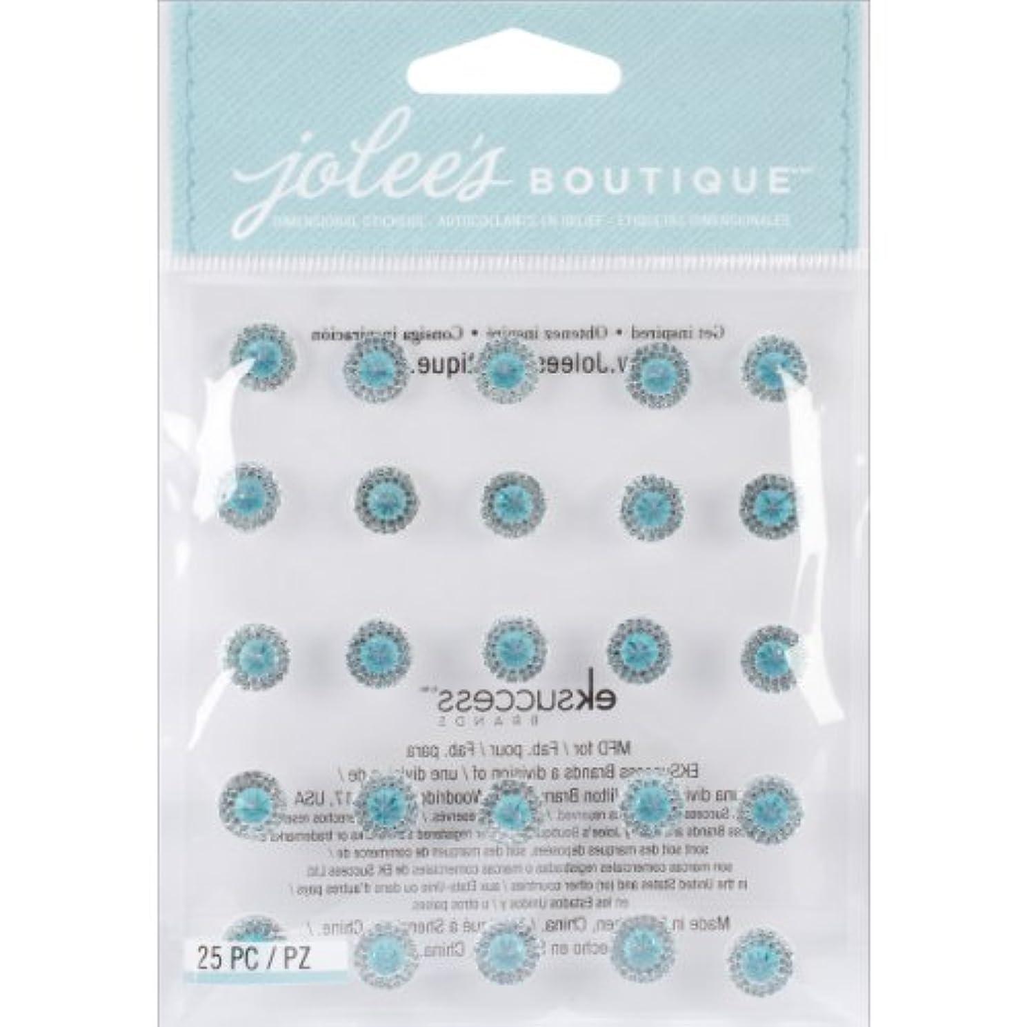 Jolee's Boutique Dimensional Bling Stickers, Dual Tone Prism Aquamarine