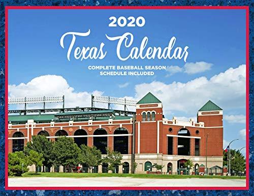 2020 Texas Kalender, kompletter Baseball-Saison-Zeitplan inklusive
