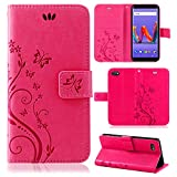 betterfon | Wiko Harry 2 Hülle Flower Case Handytasche