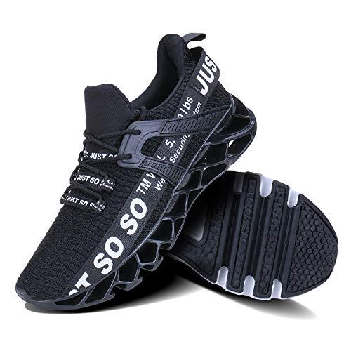 UMYOGO Mens Athletic Walking Blade Running Tennis Shoes Fashion Sneakers (10 M US, 1-Black)