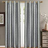 <span class='highlight'><span class='highlight'>eLuxurySupply</span></span> 2 Piece Laguna Jacquard Grommet Window Treatment Curtain Panels Drapes 104x84 - Blue