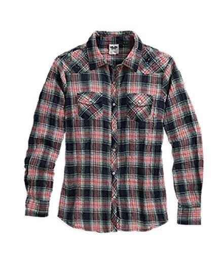 Harley Davidson Plaid Crinkle Shirt 96249-16VW Damesshirt
