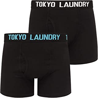Tokyo Laundry Men's 2 Pack Black Boxer Shorts
