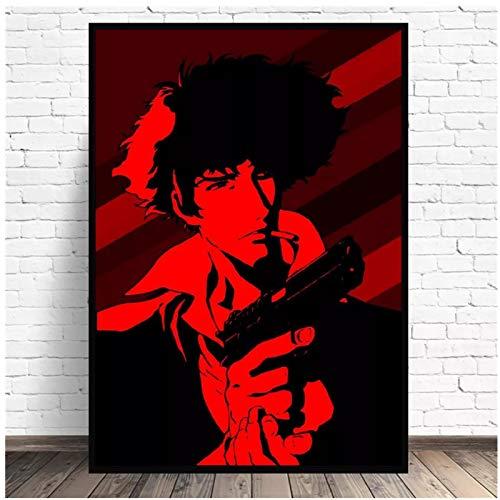 Kongzir Cowboy Bebop Spike Spiegel Anime Art Print Poster Imagen De Pared Dormitorio Minimalista Moderno Decoración De La Sala De Estar -50X70Cmx1Pcs -Sin Marco