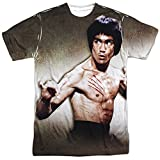 Bruce Lee Chinese Martial Arts Icon Attack Stance Adult Front Print T-Shirt White
