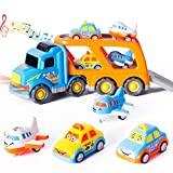 Thedttoy Toy Car Transporter 5-i...