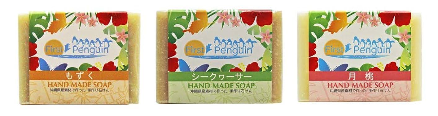 言うまでもなく鑑定策定する手作り洗顔石けん (もずく、シークヮーサー、月桃)