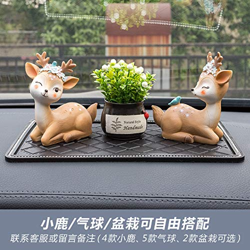 RAP All the way Ping'an herten auto decoratie auto accessoires center console parfum seat high-end Ping'an herten persoonlijke decoratie levert elegante fawn + meditatie fawn + gunstige fruit + anti-slip mat