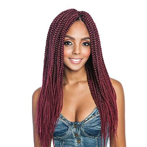"Box Braids Crochet Hair 18inch 7Pcs/lot Kanekalon Crochet hair Braids hot water setting fiber synthetic Braiding hair extensions for black women (18"", T118)"
