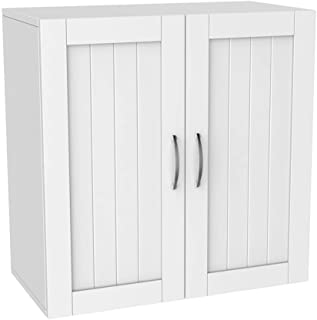 Topeakmart Home Kitchen/Bathroom/Laundry 2 Door 1 Wall Mount Cabinet, White, 23
