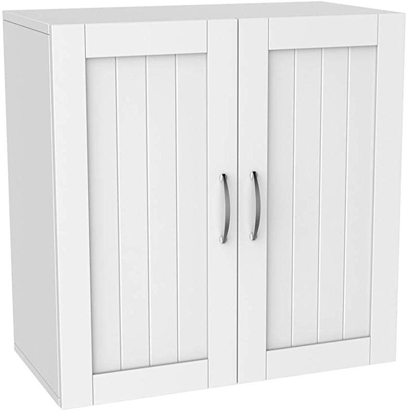 Topeakmart Home Kitchen Bathroom Laundry 2 Door 1 Wall Mount Cabinet White 23 X23
