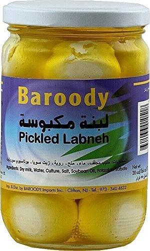 Baroody Plain Pickled Labneh Balls ( Dry Yogurt ) in Oil 20.oz/575 gm. كرات اللبنة مكبوسة بالزيت