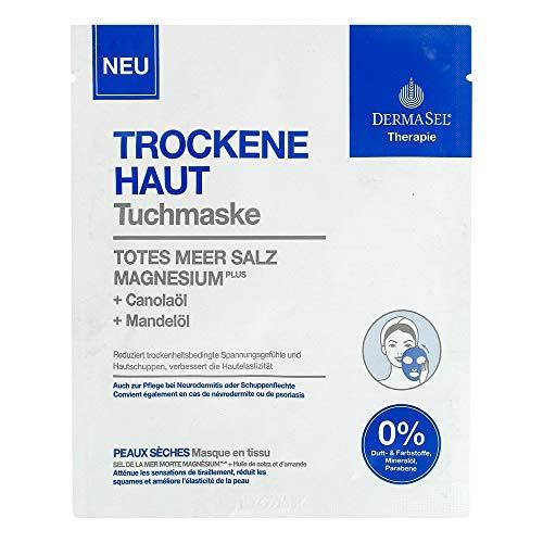 DERMASEL Therapie Tuchmaske trockene Haut 1 St Gesichtsmaske