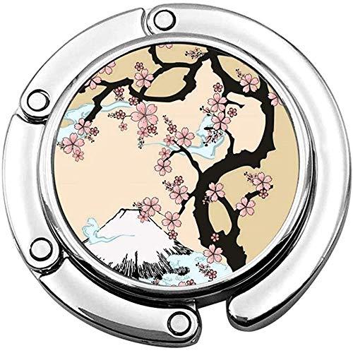 Geldbörse Haken Berg Kirschbaum In Japan Print Charm Geldbörse Handtasche Tisch Schreibtisch Tasche Haken - Hakenhalter