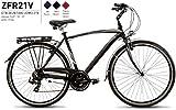 Bici Misura 28 Uomo City Bike Alluminio 21V ZEFIRO Art. ZFR21V (47 CM)