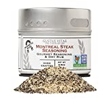Montreal Steak Seasoning - Authentic Artisan Gourmet Spice Blend - Non GMO - Packed In Magnetic Tins...