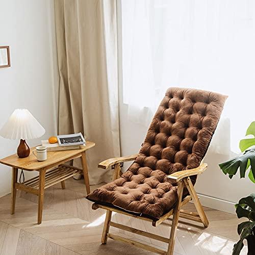 Cojín reclinable de algodón para silla mecedora de sillas plegables y gruesas, cojín para asiento al aire libre