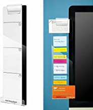 Monitor Memo Pads, izBuy Computer Monitors Screen Acrylic Message Boards/Multi Memo Pads for A4 Paper,Sticky Notes, Phone and More,Wide Bottom with Hole for Charge Cable and Clip for on Top (Left)