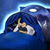 Favonir Dream Tent for Kids - Bed Tents for Boys and Girls - Pop Up Bed Tent - Unisex Children's Bed Reading Privacy Canopy w/ Storage Bag - Space Adventure